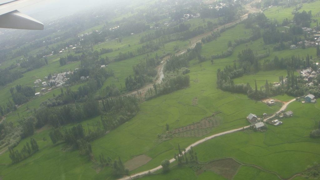 Landing at Srinagar airport