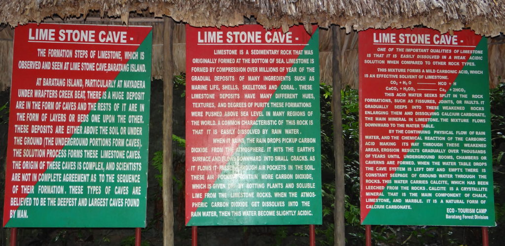 Limestone cave information